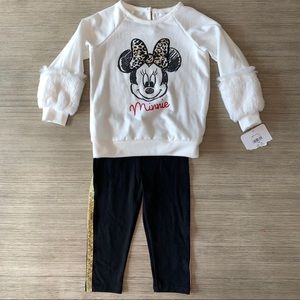 Minnie Mouse Toddler Girl Cheetah Outfit
